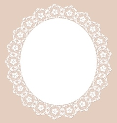 Lace pearl napkin vector image vector image