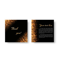 leaflet with flashes of golden light vector image vector image
