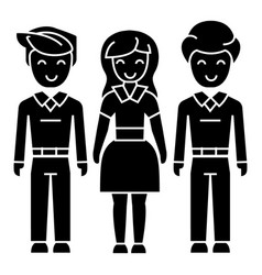 man woman man icon black vector image vector image