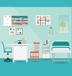 medical examination or medical check up interior vector image vector image