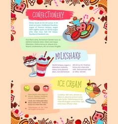 poster for confectionery or bakery shop vector image vector image