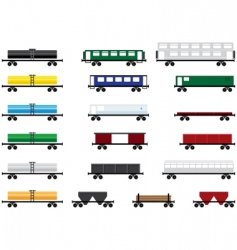 railway cars vector image vector image