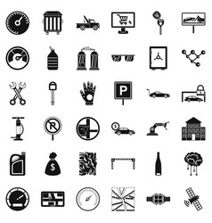 Repair car repair icons set simple style vector