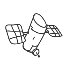 Satellite icon sketch and science design vector