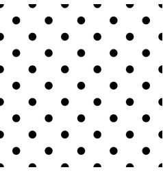 Seamless abstract black and white dot pattern - vector