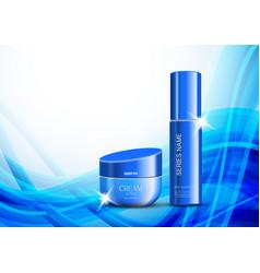 Skin moisturizer cosmetic ads light template vector
