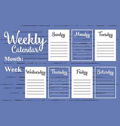 Weekly calendar template vector
