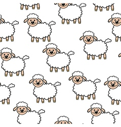 White lamb pattern vector