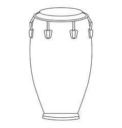 single conga icon vector image