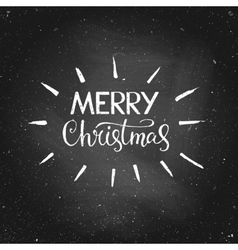 Merry christmas - greeting quote on chalkboard vector