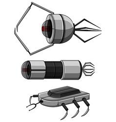 Three designs of nanobots vector image