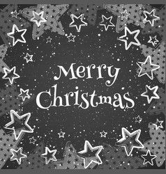 greeting card with text merry christmas vector image