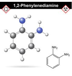 Ortho phenylenediamine chemical structure vector
