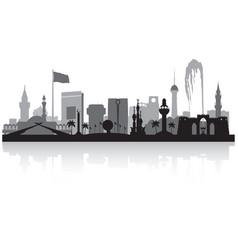 Jeddah saudi arabia city skyline silhouette vector