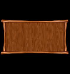 wooden background banner vector image