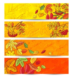 leaves banners vector image