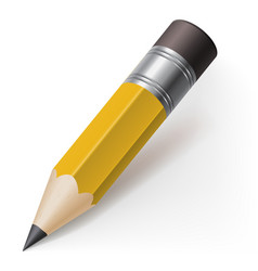 Realistic pencil icon on white background vector