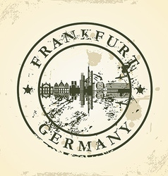 Grunge rubber stamp with frankfurt germany vector