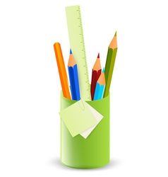 pencils in the stand vector image