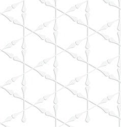 Paper white clubs forming triangles vector