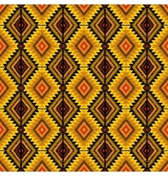 Ethnic tribal seamless pattern in yellow and vector