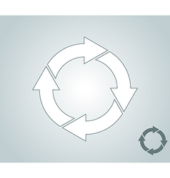 Arrows endless cycle vector