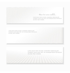 Set of white abstract banners vector