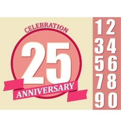 Anniversary design set template celebration sign vector