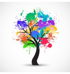 Colorful abstract tree background vector