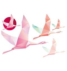 Shadoof abstract crystal pink shadoof vector