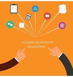 Customer relationship management crm vector