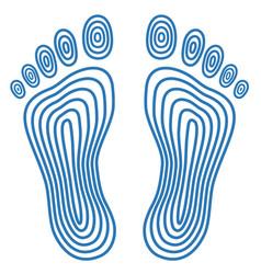 Abstract human footprints vector
