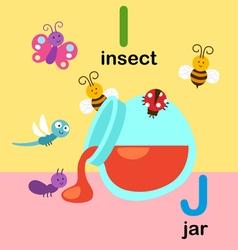 Alphabet i j vector
