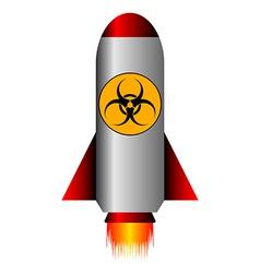 Biohazard rocket vector image