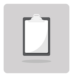 Blank clipboard icon vector