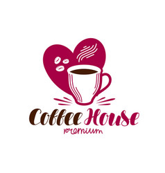 Coffee house cafe logo espresso cappuccino hot vector