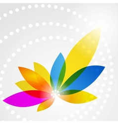 Colorful shiny flower vector image