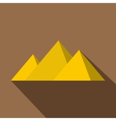 Egyptian giza pyramids icon flat style vector