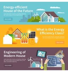 Energy saving house banner vector