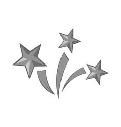 Fireworks icon black monochrome style vector image