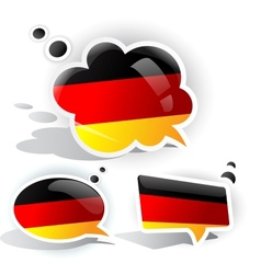 flag of germany speech bubble vector image vector image