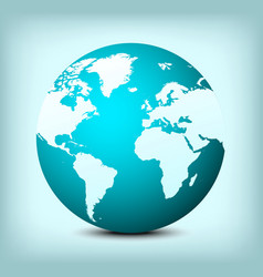 globe world map icon vector image
