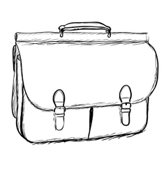 Leather briefcase on white background EPS8 vector image