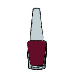 nail polish bottle cosmetic image vector image