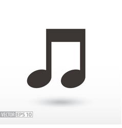note flat icon sign music vector image vector image