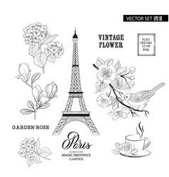 paris romantic collection vector image