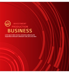 red background business presentation booklet cover vector image vector image