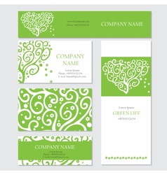 Set of business or invitation cards templates vector image vector image