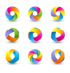 Set of colorful abstract icons vector