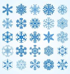 set of snowflakesDecorative snowflake winter set vector image vector image